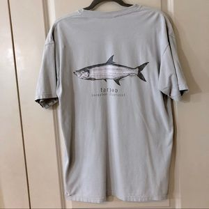 🐟Phins Gray Front Pocket Comfort Colors T-shirt🐟